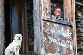 Tibetan Boy, Nepal