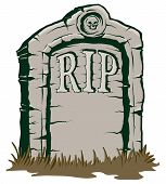 foto of tombstone  - An Illustration of a stone tombstone rip - JPG