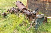 Wrecked Tractor Rusting To Pieces