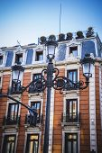 oldest street in the capital of Spain, the city of Madrid, its architecture and art