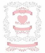 Set decorate element for Valentine or for Wedding