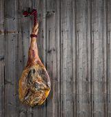 Serrano Ham On A Wooden Plank