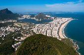 pic of ipanema  - Rio de Janeiro Aerial View Overlooking Ipanema Beach - JPG