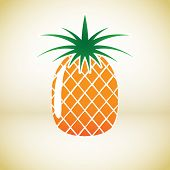 Pineapple Vector Symbol