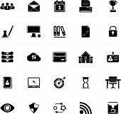 Business Management Icons On White Background