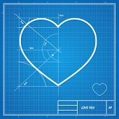 picture of blueprints  - Vector Holiday Card - JPG