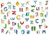 pic of alphabet  - Full alphabet letters set for  - JPG