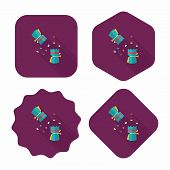 Christmas Cracker Flat Icon With Long Shadow,eps10