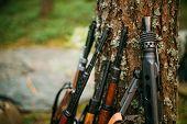 image of rifle  - Soviet and German rifles of World War II  - JPG