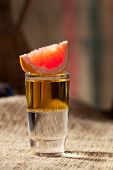 picture of sackcloth  - Alcohol Shot Cocktail on Sackcloth - JPG