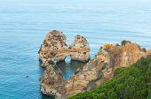 image of atlantic ocean  - Atlantic Ocean with natural rocks in Lagos - JPG