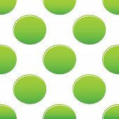 foto of oval  - Vector green oval repeated on white background - JPG