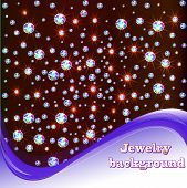 image of precious stone  - illustration background with shiny precious stones and place for text - JPG