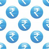picture of indian money  - Round sign with indian rupee symbol repeated on white background - JPG