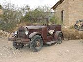 stock photo of texans  - I found the Car in Turlingua Texas - JPG