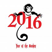 Постер, плакат: Chinese New Year 2016 monkey Year