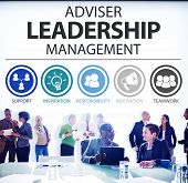 stock photo of responsible  - Adviser Leadership Management Director Responsibility Concept - JPG