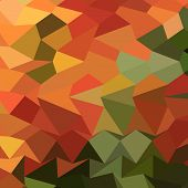 foto of saffron  - Low polygon style illustration of deep saffron orange abstract geometric background - JPG