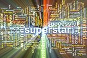 picture of superstars  - Background text pattern concept wordcloud illustration of superstar glowing light - JPG