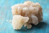 foto of crust  - Crust of sea salt from Dead Sea coast - JPG
