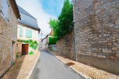 stock photo of french culture  - The Deserted Street of the French City - JPG