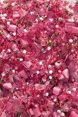 image of beads  - Pink shiny beads as a background closeup - JPG