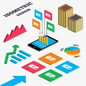 picture of yen  - Isometric design - JPG