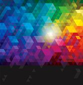 stock photo of color geometric shape  - Abstract colorful geometric urban background - JPG