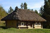 picture of kiev  - Old ukrainian house in Pirogovo village near Kiev - JPG