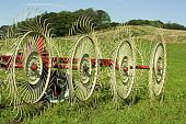 Hay Rake In Farmers Field