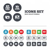 foto of cash  - Cash and coin icons - JPG