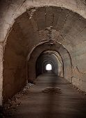 picture of tunnel  - Walkway tunnel - JPG