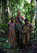 Girls From Tribe Baka With The White Woman.
