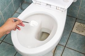 picture of disinfection  - Baking soda used to clean and disinfect bathroom and toilet bowl - JPG