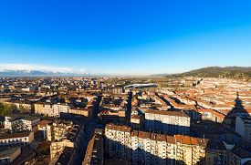 picture of torino  - Panorama from the Mole Antonelliana of the city of Turin  - JPG
