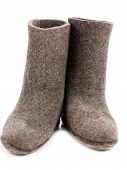 Pair Gray Woolly Lock Footwear