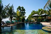 Peaceful balinese resort with swimming pool