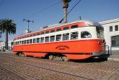 Historic Streetcar In San Francisco poster