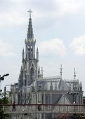 foto of kali  - White church with spire in Kali Colombia - JPG