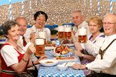 pensioner in a beer tent