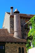 Hecho Village Chimney Huesca Aragon Pyrenees