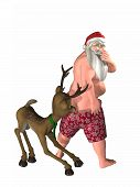 Pulling Down Santa's Trunks