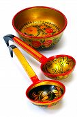 Decorated Wooden Hand Made Tableware,