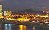 View Of La Manga Del Mar Menor At Night
