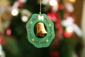 Bell Christmas Ornament poster