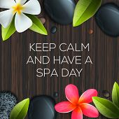 Keep calm and have a Spa day poster