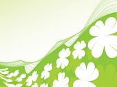 Four leaf clover background vector illustration