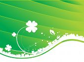 Four leaf clover designs vector illustration