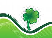 Shiny Shamrock background abstract vector illustration