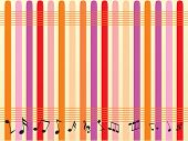 vector music notes abstract background